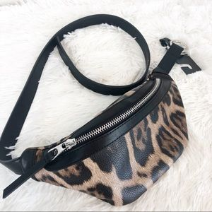 NWT Leopard Print Fanny Pack Belt Bag